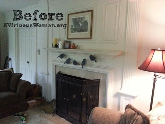 My Living Room Redo Before After A Virtuous Woman