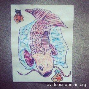 Koi Fish Art Project | A Virtuous Woman