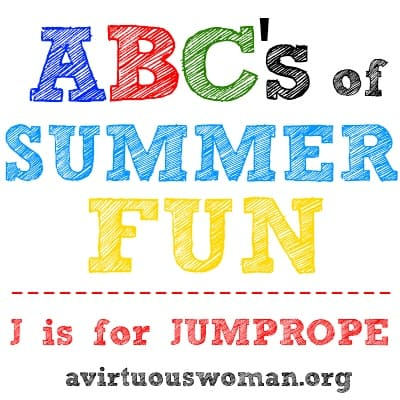 ABC's of Summer Fun {J is for Jumprope} Free Printable Jumprope Jingles Booklet | A Virtuous Woman #summerfun #printables