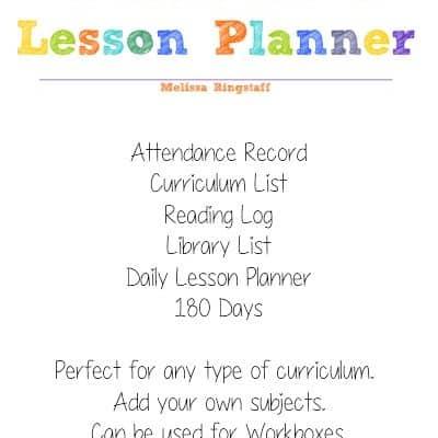 Homeschool Planner + Free Printable Calendar