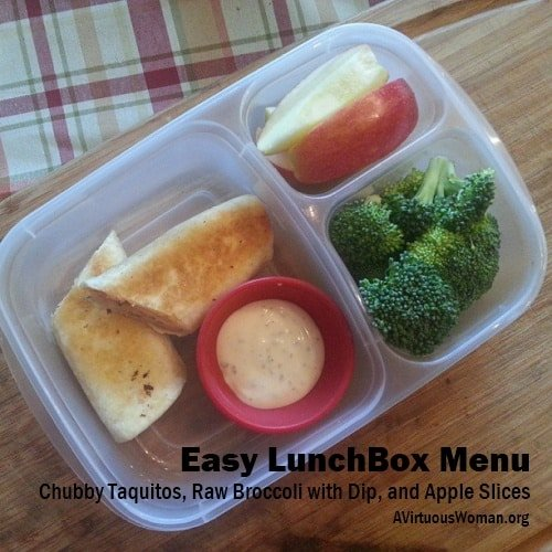 Chubby Taquitos Lunch Box Menu {Plus RECIPE} | A Virtuous Woman #easylunchbox