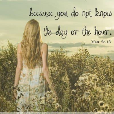{Rest} Mattew 25:13