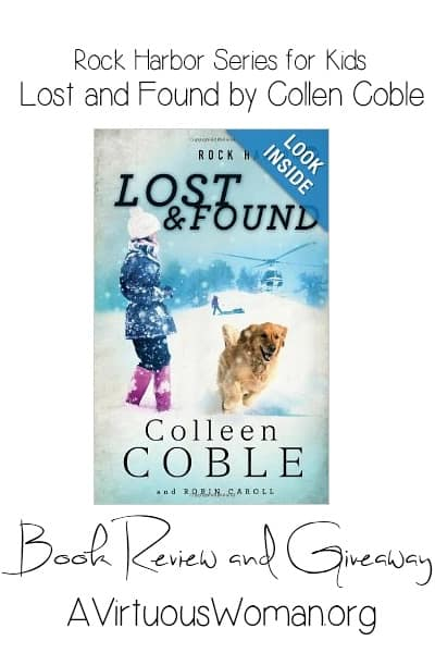 {Rock Harbor Series for Kids} Lost & Found by Colleen Coble ... Book Review and Giveaway on A VirtuousWoman.org #booksforkids #reading #giveaway #homeschool