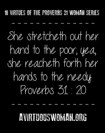 10 Virtues of the Proverbs 31 Woman {Service}