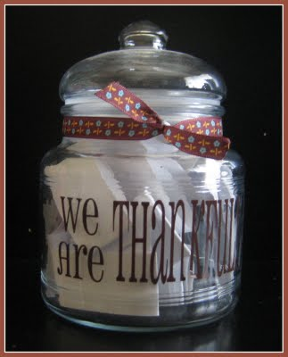 Thanksgiving Countdown {Thankful Jar} @ Somewhat Simple