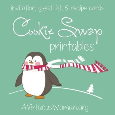 Christmas Toffee Bark and Cookie Swap Printables