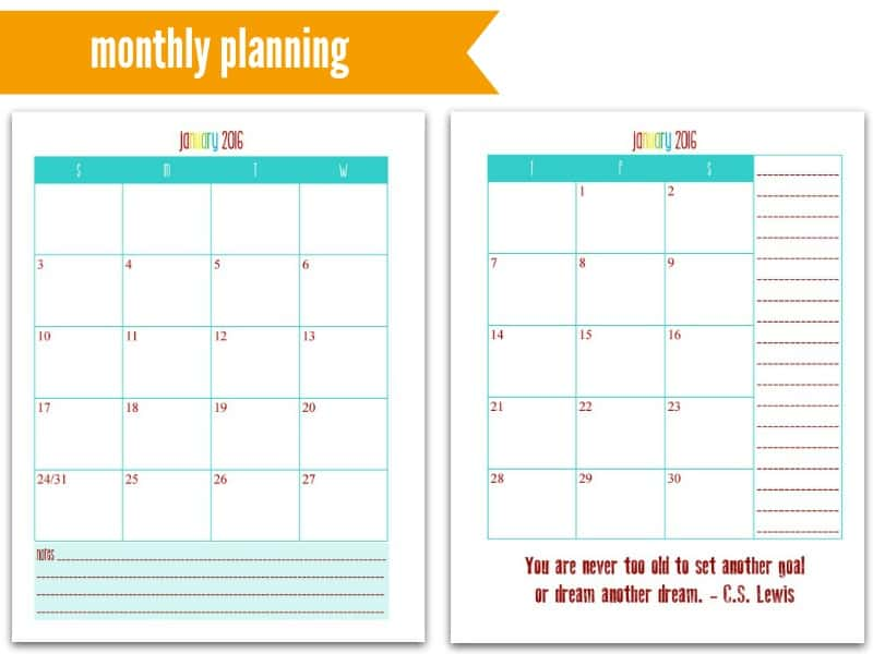 This is My Life! Planners: Monthly Planning @ AVirtuousWoman.org