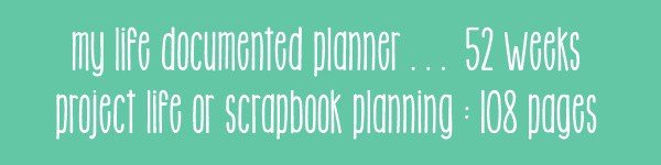 My Life Documented - Document the Everyday with this scrapbook Planner. @ AVirtuousWoman.org #planners
