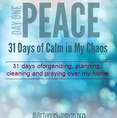 31 Days of Calm: Peace {Day 1}