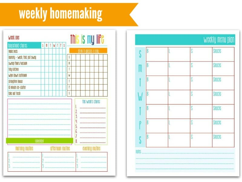This is My Life! Planners: Weekly Homemaking @ AVirtuousWoman.org