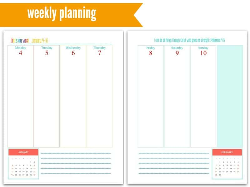 This is My Life! Planners: Weekly Planning @ AVirtuousWoman.org