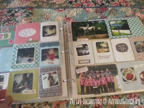 My Life Documented @ AVirtuousWoman.org #projectlife