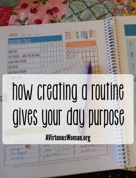 31 Days of Calm: Routines {Day 7} & My One Word