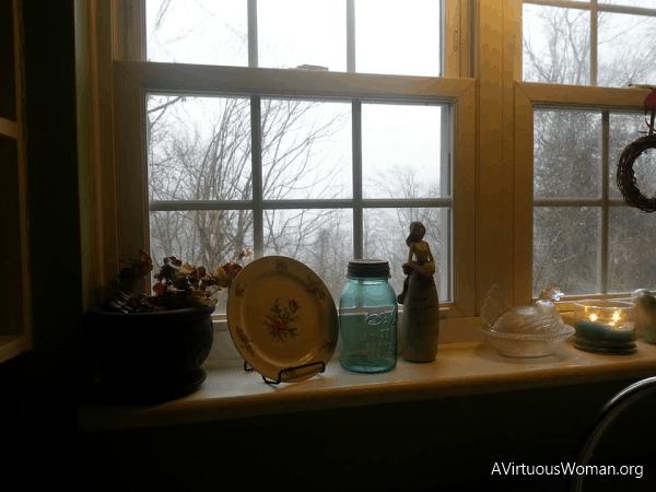 My kitchen window.