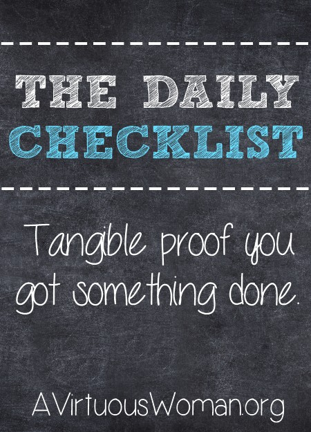 The Daily Checklist {Day 25}