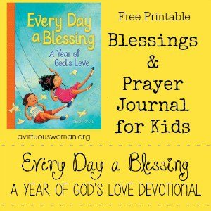 Free Printable Blessings and Prayer Journal for Kids