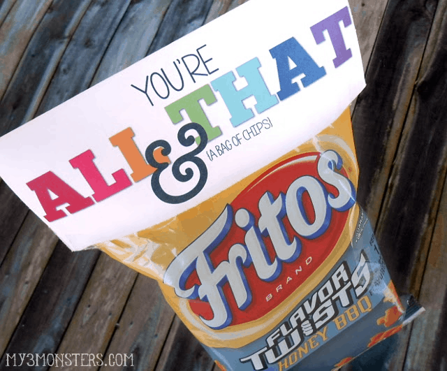 You're All That & a Bag of Chips Valentine @ My3Monsters.com