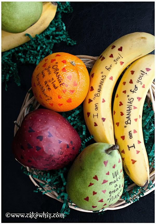 Fruit Valentines @ CakeWhiz.com