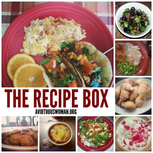 The Recipe Box @ AVirtuousWoman.org ------ HUNDREDS of healthy recipes for busy moms!