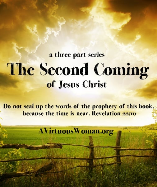 The Second Coming of Jesus Christ {a three part series} @ AVirtuousWoman.org ----- this Bible study is easy to understand in depth! #BibleStudy #prophecy