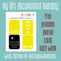My Life Documented Monday #13 @ AVirtuousWoman.org