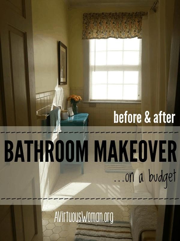 Master Bathroom Makeover on a Budget