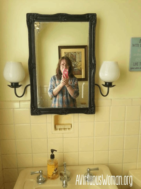 Bathroom Makeover on a Budget @ AVirtuousWoman.org
