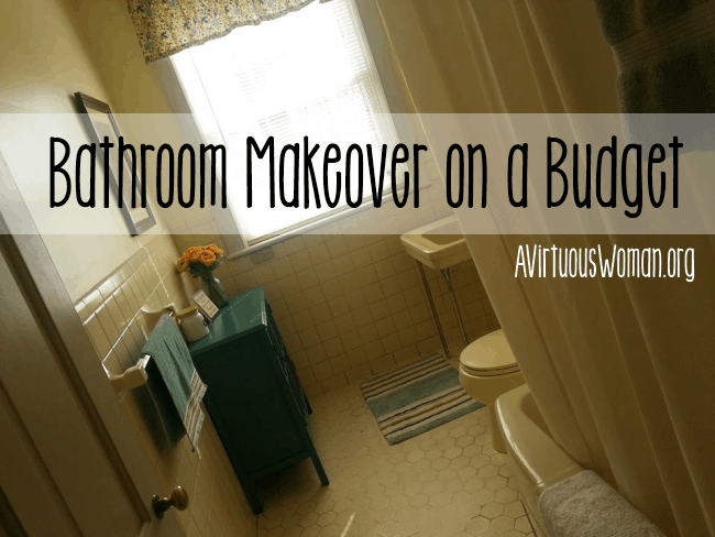 Before & After - Bathroom Makeover on a Budget @ AVirtuousWoman.org