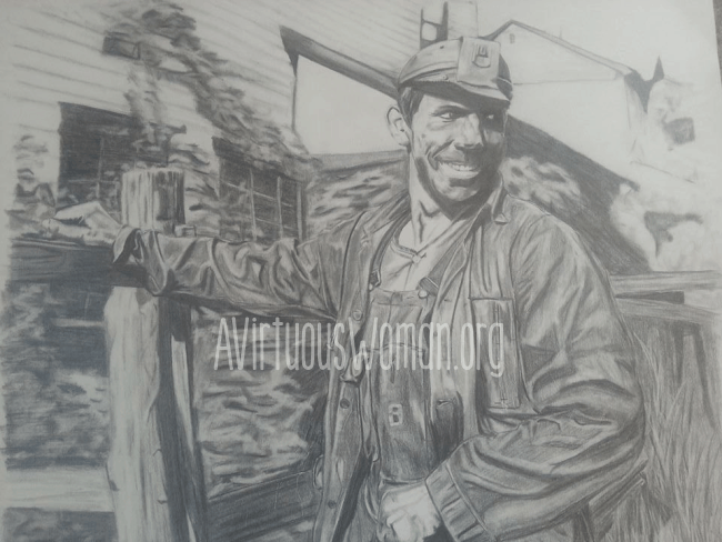 Coal Miner sketch @ AVirtuousWoman.org