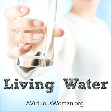 Drink of the Living Water @ AVirtuousWoman.org