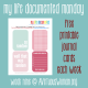 Document the everyday. My Life Documented Mondays on AVirtuousWoman.org --- FREE printable journal cards each week! Week #9 --- So Random . #ProjectLife