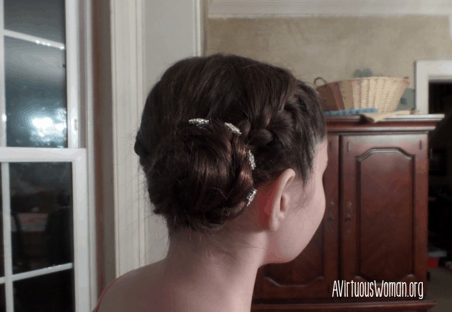 Hannah's Hair Style for Ice Skating Competition @ AVirtuousWoman.org