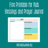 Free Printable Prayer Journal for Kids @ AVirtuousWoman.org