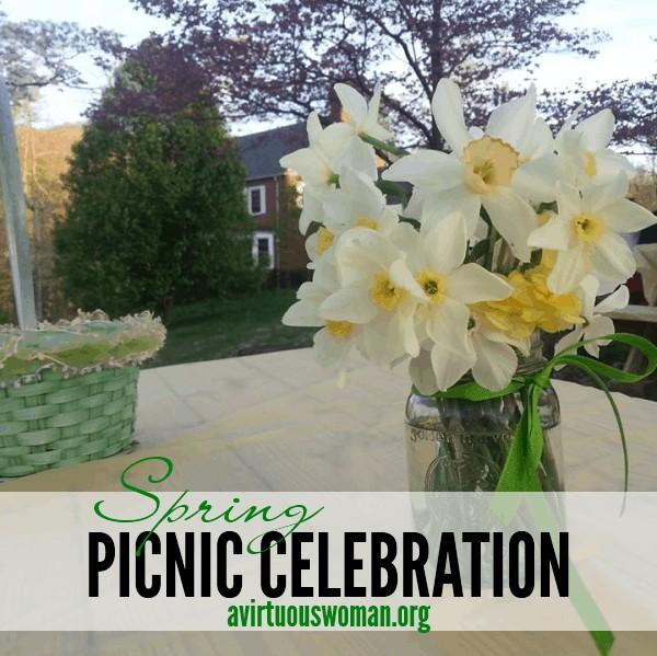 Spring Picnic Celebration @ AVirtuousWoman.org #easter #spring