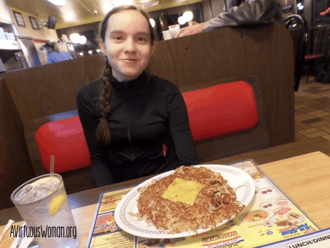 At the Waffle House @ AVirtuousWoman.org