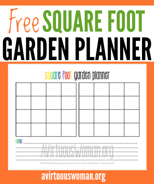 Printable Square Foot Garden Planner