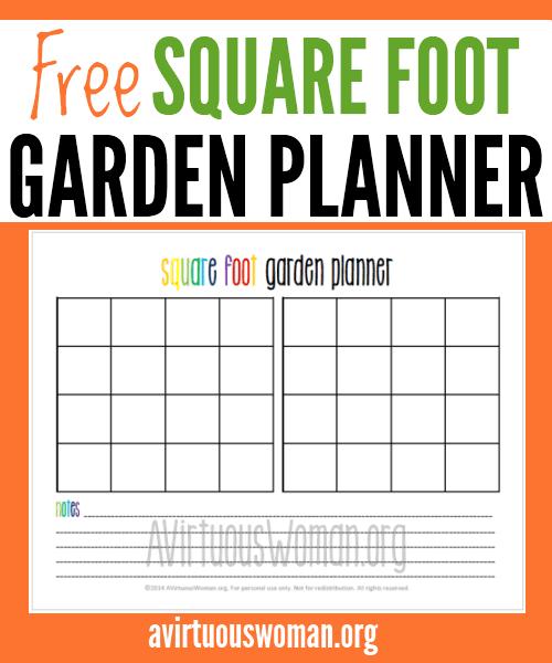 Printable Square Foot Garden Planner – 4X8 Square Foot Garden Plan