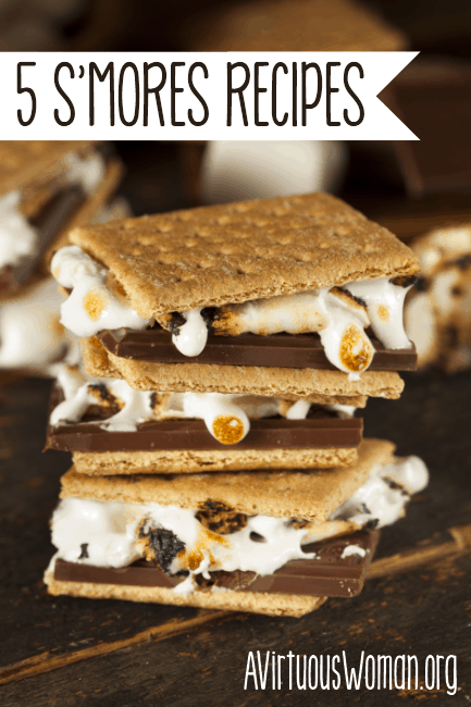 5 S'mores Recipe Variations you'll love! @ AVirtuousWoman.org