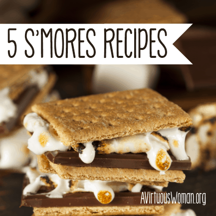 5 Different Variations of S'Mores Recipes @ AVirtuousWoman.org