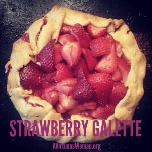 Rustic Strawberry Gallette