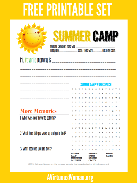 image regarding Camping Mad Libs Printable titled 10 Summertime Camp Treatment Offer Suggestions Printables