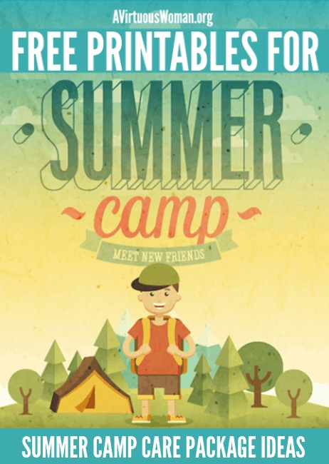 Summer Camp Care Package Ideas and Printables @ AVirtuousWoman.org
