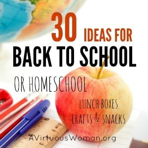 Ideas for Back to School {or Homeschool}