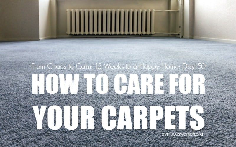 How to Care for Your Carpets @ AVirtuousWoman.org
