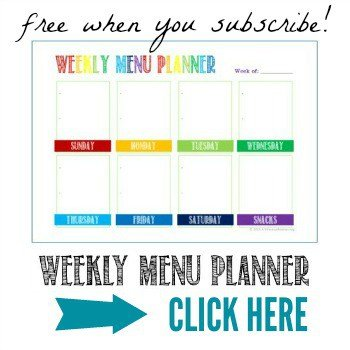 Enjoy this free Weekly Menu Planner when you subscribe to my email newsletters @ AVirtuousWoman.org