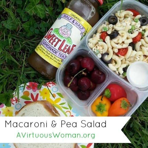 Macaroni and Pea Salad @ AVirtuousWoman.org