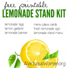 Printable Lemonade Stand Kit @ AVirtuousWoman.org