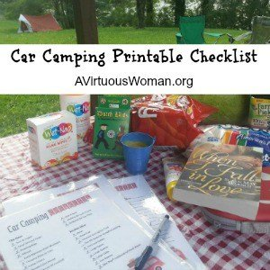 Car Camping Essentials plus a Free Printable Checklist