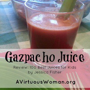 Gazpacho Juice {Best 100 Juices for Kids}
