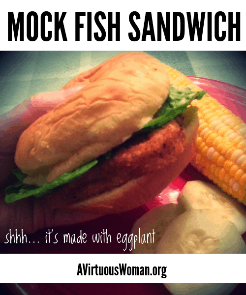 You'll love this Mock Fish Fillet Sandwich - the secret ingredient? Eggplant! @ AVirtuousWoman.org